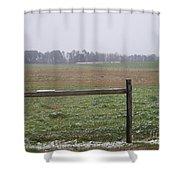 Frozen Rainy Field Shower Curtain by Kevin Croitz