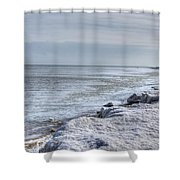 Frozen Sand Shower Curtain