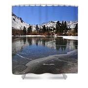Frozen Sierra Lake Shower Curtain