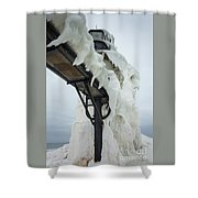 Frozen St. Joseph Outer Lighthouse Shower Curtain