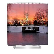 Frozen Sunrise Shower Curtain