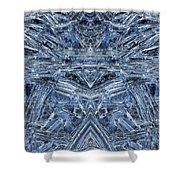 Frozen Symmetry Shower Curtain