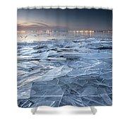 Frozen Town Shower Curtain
