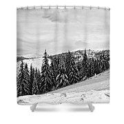 Frozen Valley 4 Bw  Shower Curtain