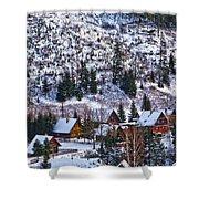 Frozen Village V2 Shower Curtain