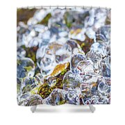 Frozen Water Droplets Shower Curtain