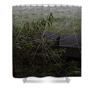 Frozen Web With Light To Dark Background Shower Curtain