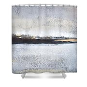 Frozen Winter Lake Shower Curtain