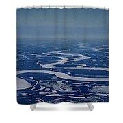 Frozen Yukon River - Alaska  Shower Curtain