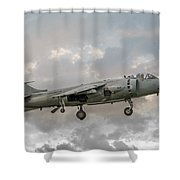Frs1 Sea Harrier On Vertical Approach Shower Curtain