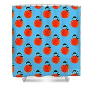 Fruit 01_orange_pattern Shower Curtain