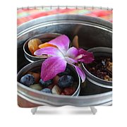 Fruit And Flowers Shower Curtain