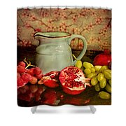 Fruit And Pitcher Shower Curtain