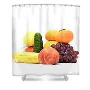 Fruit And Vegetables Ansamble Shower Curtain