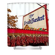 Fruit Basket Stand Shower Curtain