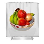 Fruit Bowl Still Life Shower Curtain