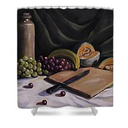 Fruit By The Light Shower Curtain