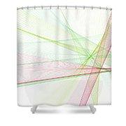 Fruit Computer Graphic Line Pattern Shower Curtain
