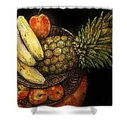 Fruit In The Round Shower Curtain