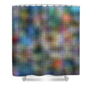 Fruit Labels Ukiyoshi Shower Curtain