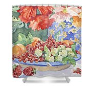 Fruit On A Plate Shower Curtain