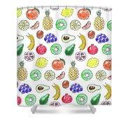 Fruit Pattern  Shower Curtain