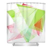 Fruit Polygon Pattern Shower Curtain
