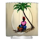 Fruit Seller Shower Curtain