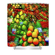 Fruit Stand At La Boqueria Shower Curtain