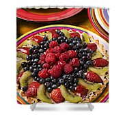 Fruit Tart Pie Shower Curtain