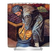 Fruit Vendor Shower Curtain