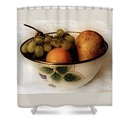 Fruitbowl Retro Shower Curtain