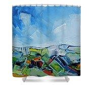 Fruitgum Landscape Shower Curtain