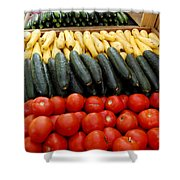 Fruits And Vegetables On Display 1 Shower Curtain