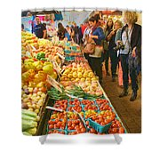 Fruits And Vegetables - Pike Place Market Shower Curtain
