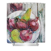 Fruits In Vintage Shower Curtain