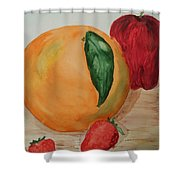 Fruits Of All Seasons Shower Curtain