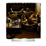 Fruits Of France Shower Curtain