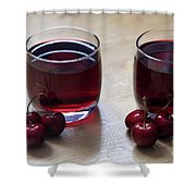 Fruity Cherry Shower Curtain by Tracy Hall