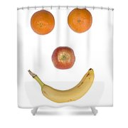 Fruity Happy Face Shower Curtain