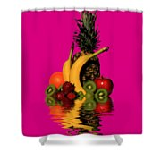 Fruity Reflections - Dark Shower Curtain