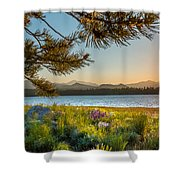 Frye Lake Flowers Shower Curtain