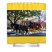 Ft Worth Stockyards Stagecoach  Shower Curtain
