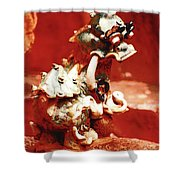 Fu Dog Shower Curtain