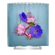 Fuchsia And Cranesbill Shower Curtain