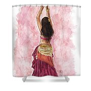 Fuchsia Shower Curtain by Brandy Woods