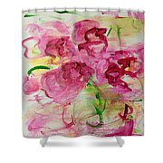 Fucia Kisses Shower Curtain