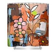 Fuddled Floral Shower Curtain