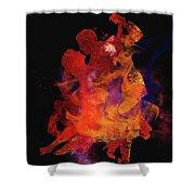 Fuego Shower Curtain by M Montoya Alicea