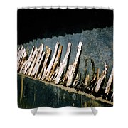 Fuel Wood Shower Curtain